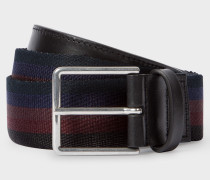 Black Stripe Webbing Belt