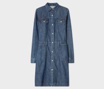 Denim Long-Sleeve Shirt Dress