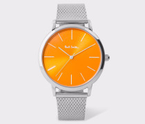 Special Edition 38mm Orange And Stainless Steel 'Ma' Watch