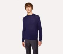 Dark Indigo Crew-Neck Merino Wool Sweater