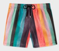 'Artist Stripe' Print Swim Shorts
