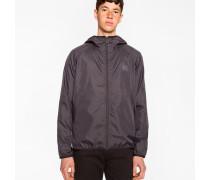 Mens Black Lightweight Showerproof Micro Ripstop Hooded Jacket