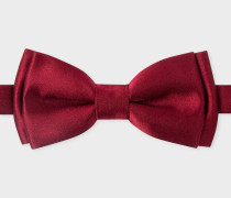 Burgundy Soft Silk Bow Tie