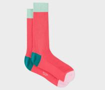 Ribbed Coral Socks