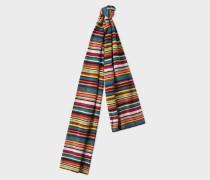 Signature Stripe Wool-Cashmere Scarf
