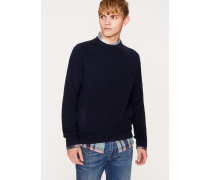 Navy Merino Wool Raglan Sleeve Sweater