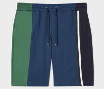Navy Colour-Block Jersey Shorts