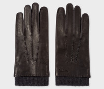 Black Deerskin Silk-Cashmere Lined Gloves