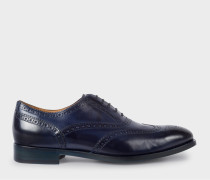Dark Navy Calf Leather 'Christo' Brogues