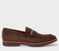 Brown Suede 'Bly' Loafers