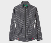Grey Ripstop Reflective 'Supernova' Spot Cycling Jacket With Travel Pouch