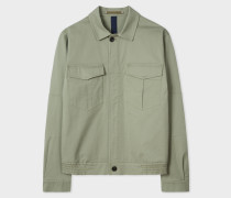 Green Cotton Patch-Pocket Jacket