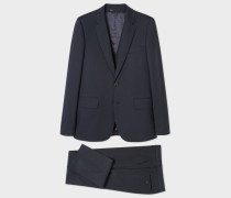 The Soho - Tailored-Fit Dark Navy Three-Piece Wool-Blend Suit