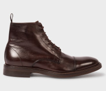 Dip-Dyed Dark Brown Calf Leather 'Jarman' Boots