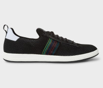 Black 'Rabknit' Knitted Trainers With Striped Webbing
