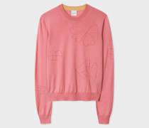 Pink Merino Wool-Blend Sweater
