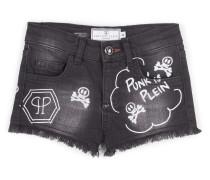 """denim shorts """"punk"""""""
