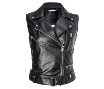 "Leather Vest Short ""Fluorite"""