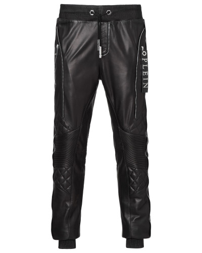 "leather trousers ""edged"""
