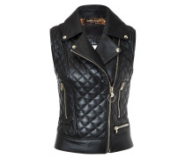 "Leather Vest Short ""Higon"""