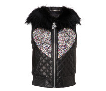 "Leather Vest Short ""Shiny Love"""