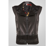 """leather vest """"eight roses"""""""