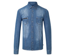 "denim shirt ""super shiny"""