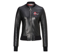 """Leather Bomber """"Heart"""""""