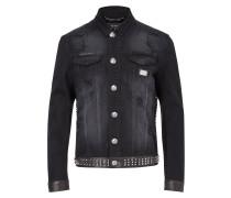 "denim jacket ""dead punk"""