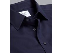 Bügelfreies Twill-Hemd Marineblau