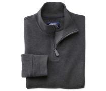 Jersey Pullover mit halben Reißverschluss