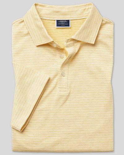 Polo aus Baumwoll-Leinen
