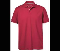 Piqué-Polohemd in Rot
