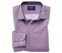 Classic Fit Hemd in Magenta und Blau