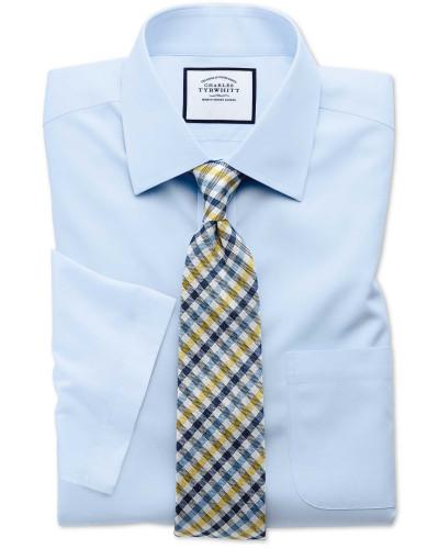 Bügelfreies Classic Fit Kurzarmhemd