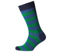 Socken in Königsblau und Grün mit breiten Streifen