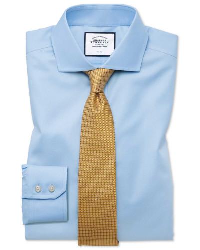 Bügelfreies Slim Fit Twill-Hemd