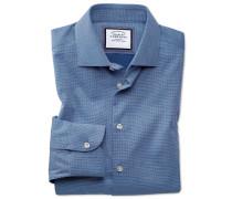 Slim Fit Business-Casual Hemd in Königsblau