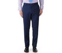 Classic Fit Business Anzug Hose aus Twill