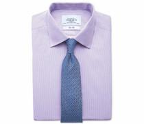 Extra Slim Fit Hemd in Flieder mit feinen Streifen