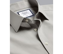 Bügelfreies Popeline-Hemd Grau