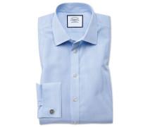 Extra Slim Fit Hemd in Himmelblau