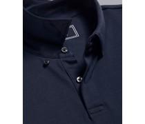 Smartes Jersey-Polo Marineblau