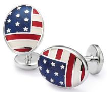 Maschettenknöpfe aus Emaille mit US-Flagge