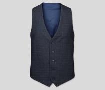 Anzugweste mit Gitterkaros Blau