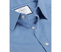 Bügelfreies Twill-Hemd Blau