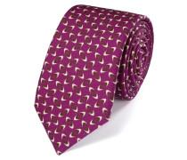 Luxuriöse Krawatte aus Wolle in BeerenRot