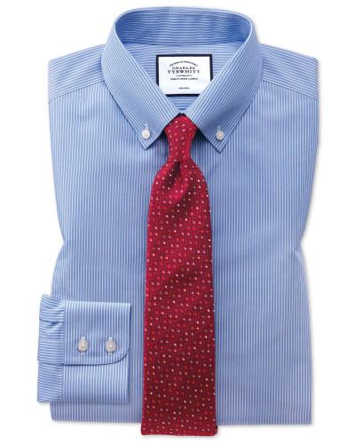 Bügelfreies Slim Fit Button-down-Hemd