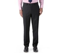 Classic Fit Business Anzug Hose aus Twill