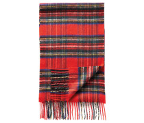 Schal aus Kaschmir in Rot mit Schottenkaro